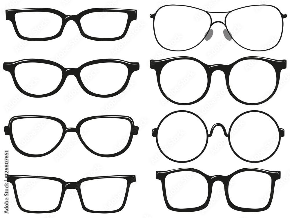 Fototapeta Different design of eyeglasses frames