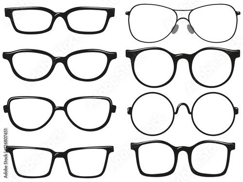 Obraz Different design of eyeglasses frames - fototapety do salonu