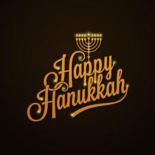 Hanukkah Vintage Lettering Design Background