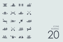 Set Of Rowing Icons