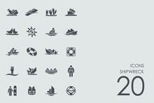 Set Of Shipwreck Icons
