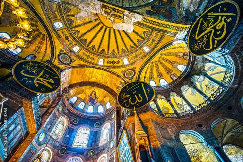 Poster Turquie Hagia Sophia mosque, Istanbul, Turkey.