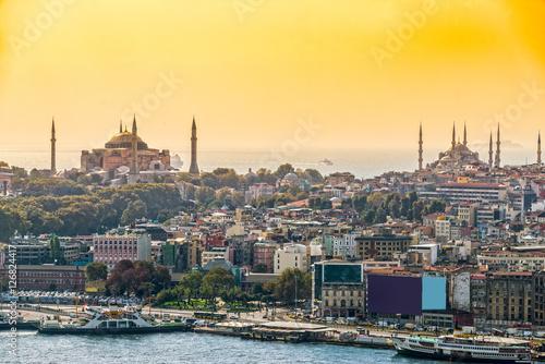 Poster Turquie Istanbul, Sultanahmet skyline, Turkey.
