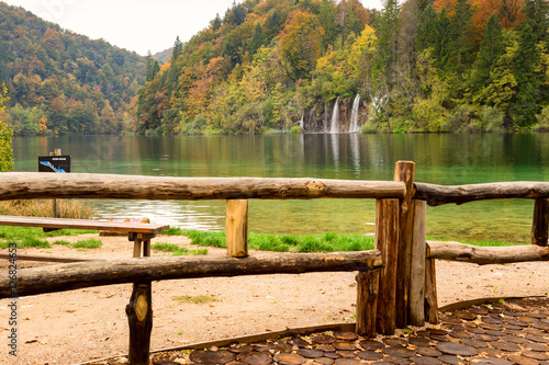 Keuken foto achterwand Autum colors and waterfalls of Plitvice National Park