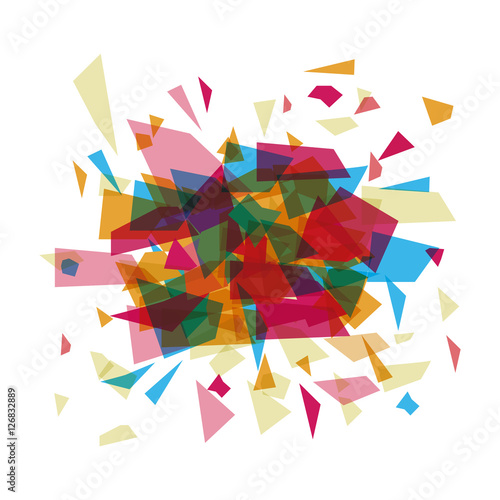 Foto op Plexiglas Geometrische dieren Polygonal figure icon. Geometric polygon and triangle theme. Vector illustration