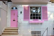 Pink Door And Window House.