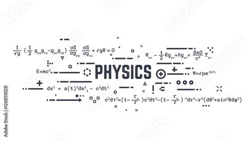 Physics line equations Fototapet