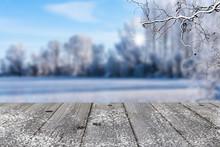 Grey Wood In Winter Landscape ...