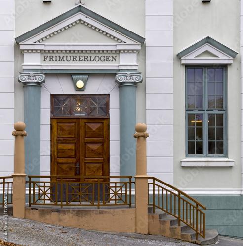 Fotografering Eingang Freimaurerloge