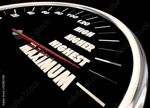 Photo  Maximum High More Best Results Speedometer 3d Illustration
