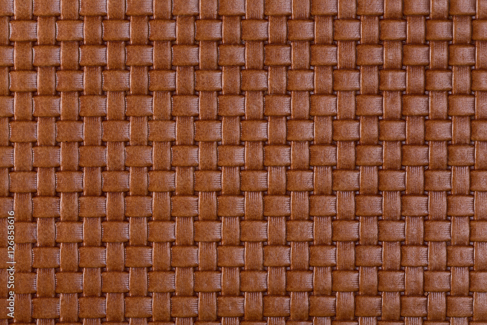 Fototapety, obrazy: Brown braided leather texture.