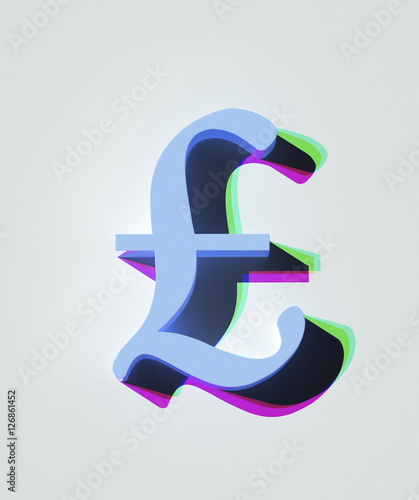A 3d Rendering Of A Pound Sterling Symbol Buy This Stock