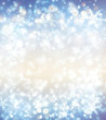 Christmas fantasy, winter background with snowflakes and stars