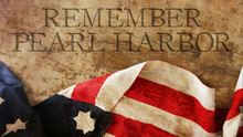 Remember Pearl Harbor. Usa Flag On Wood