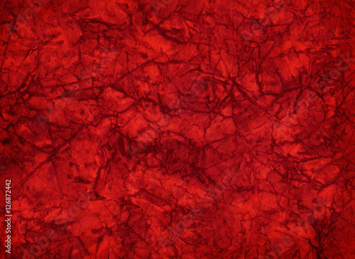 Artistic hand painted multi layered red paper background - made for christmas purpose - 126872442