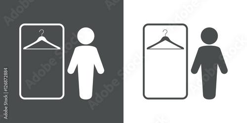 Fotografía Icono plano vestuario hombre gris