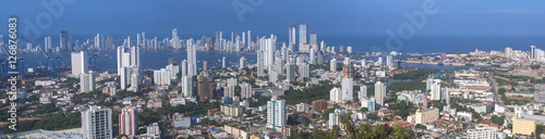 Poster South America Country View of Cartagena de Indias, Colombia