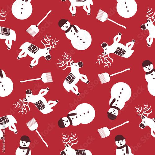 Cotton fabric christmas pattern