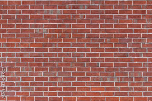 Traditional red brick wall for a background.
