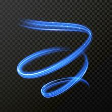 Neon Blue Fire Swirl Spiral Ve...