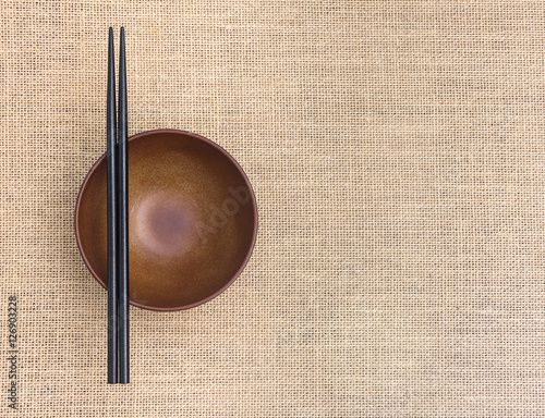 Photo  Chopsticks in asian set table