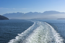 Wake Of A Ferry To Vancouver Island