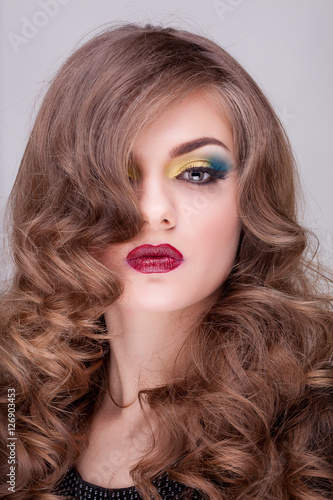 Fotografie, Obraz  Beauty portrait of gourgeous woman with professional make up