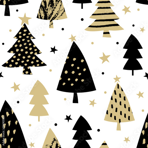 Stoffe zum Nähen Nahtlose Weihnachten Muster