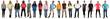 canvas print picture - Junge Leute People Gruppe lachen glücklich multikulturell in ei
