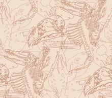 Seamless Paleontology Pattern ...