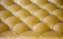 Gold Upholstery Fabric Texture, Background