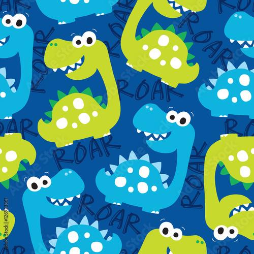 bezszwowe-dinozaur-wzor-ilustracji-wektorowych