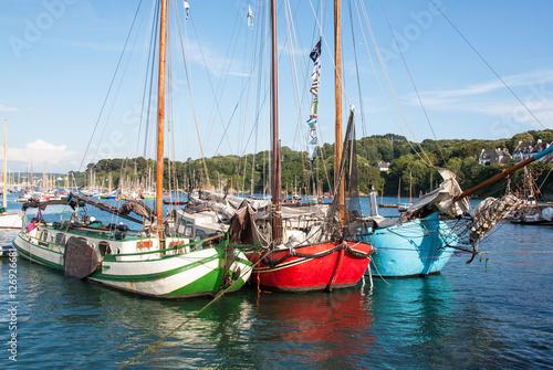 Fényképezés  Tjalk, anciens bateaux hollandais