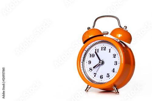 Orange alarm clock Wallpaper Mural
