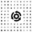 gear rotate icon illustration