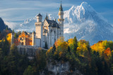 Famous Neuschwanstein Castle with scenic mountain landscape near Füssen, Bavaria, Germany