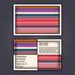 business card template with 3D paper colorful lines