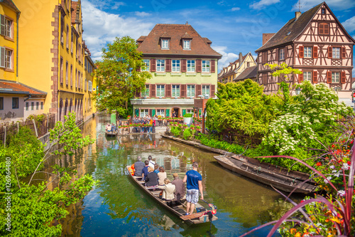 Photo Stands Ship Historic town of Colmar, Alsace, France