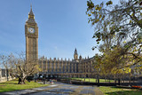 Fototapeta Londyn - Big Ben and the Palace of Westminster, London