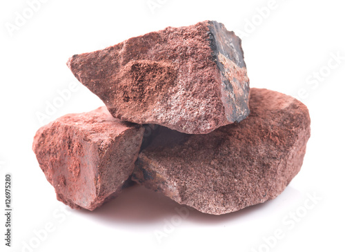Mineral bauxite isolated on white Wallpaper Mural