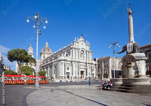 Catania's main square Canvas Print