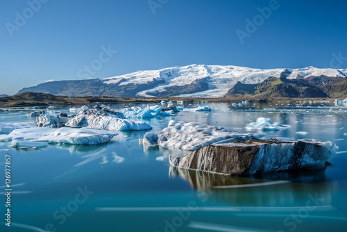 Door stickers Glaciers Icebergs in Jokulsarlon glacier lagoon, Iceland