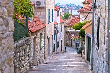 Panel Szklany Uliczki Old stone street of Split historic city