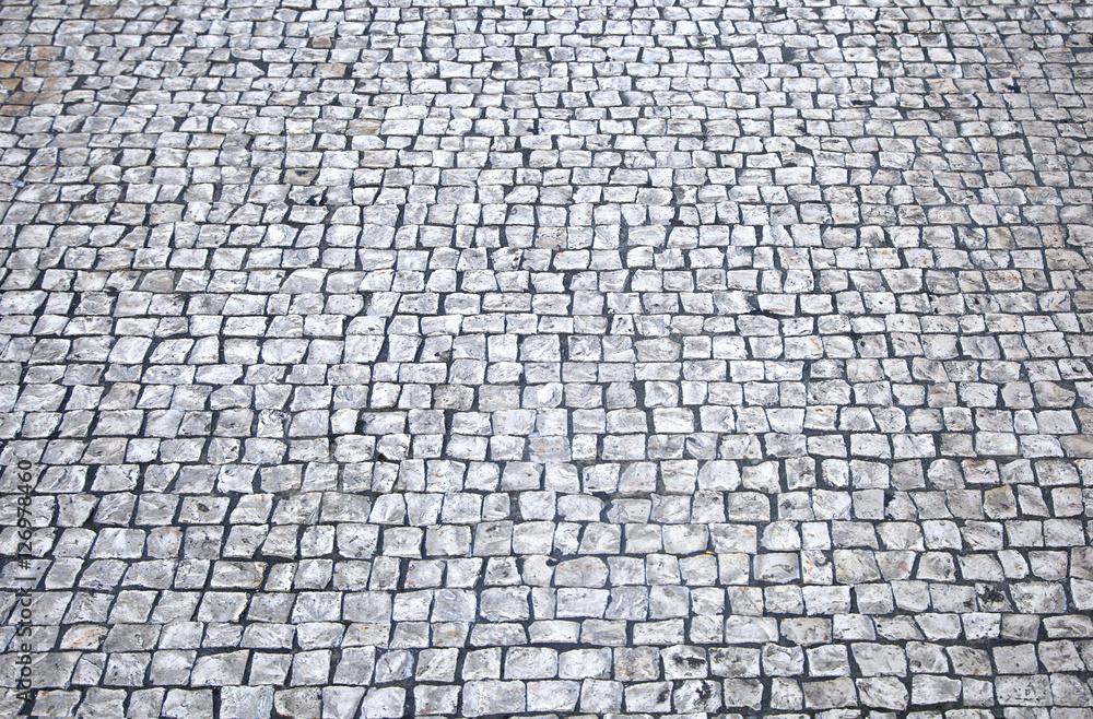 Fototapety, obrazy: Cobblestone floor background