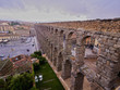Spain, Castile and Leon, Segovia, Old Town, View of The Roman Aqueduct of Segovia..
