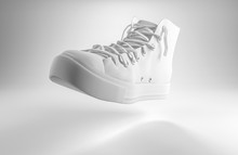 3d Render Of A White Lace Up S...