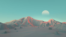Low-Poly Desert Mountain Lands...