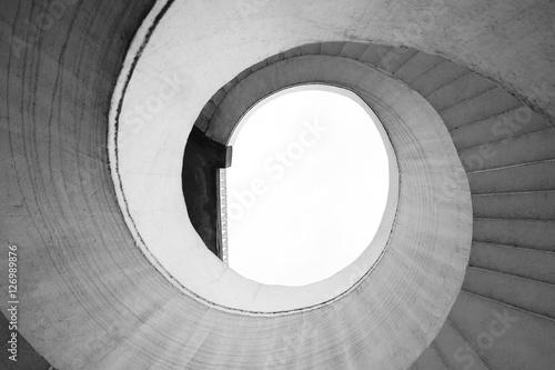 Fototapeta Spiral stairway in Gdanski bridge, Warsaw obraz