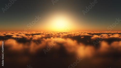latac-nad-chmurami-zachod-slonca