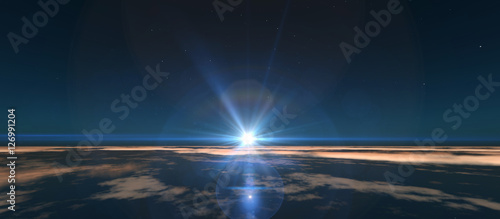 Fotografija planet sunrise from space